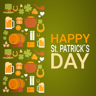 Saint patrick day beer festival banner powitanie karta