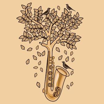 Saksofon natury