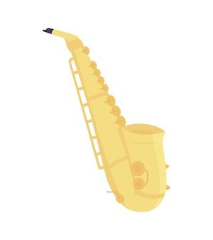 Saksofon pół-płaski kolorowy obiekt wektorowy produkcja muzyki tanecznej