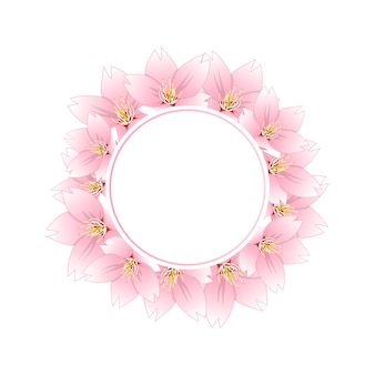 Sakura cherry blossom banner wreath