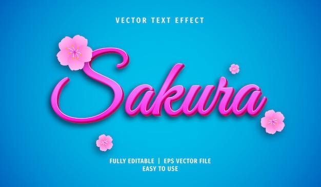 Sakura efekt tekstowy, edytowalny styl tekstu