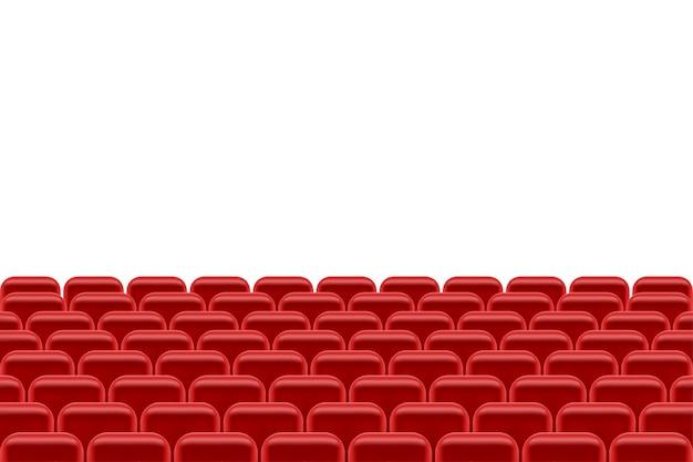 Sala teatralna z miejscami do siedzenia dla ilustracji widzów na białym tle