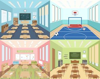 Sale szkolne i sala sportowa