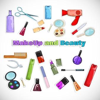Salon piękności doodles