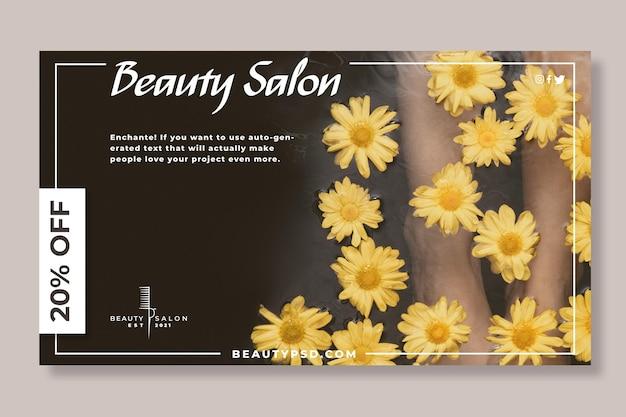 Salon piękności kwiatowy transparent