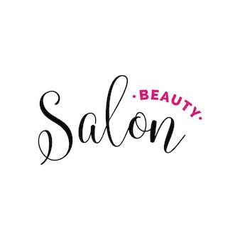 Salon piękności napis na logo