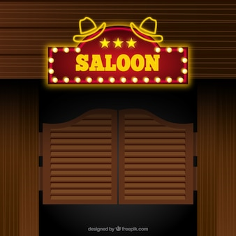 Saloon wejście tle