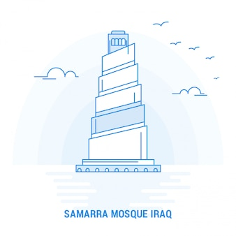 Samarra mosque iraq blue landmark