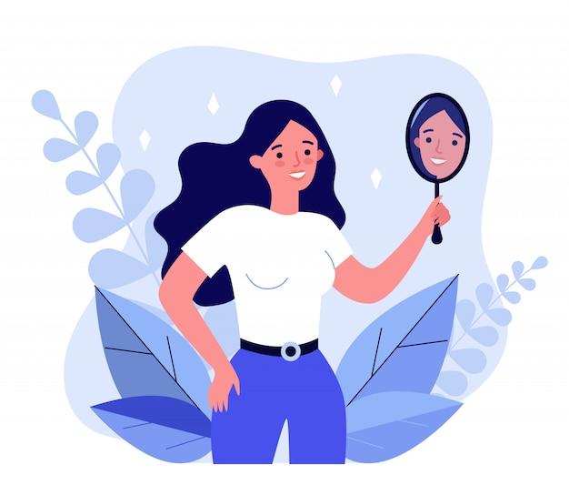 Samocentryczna kobieta cierpiąca na narcyzm