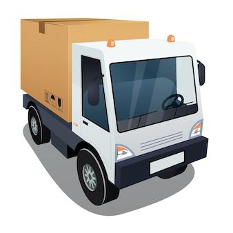 Samochód dostawczy z dużym pudełkiem