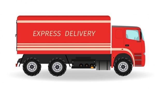 Samochód ekspresowej dostawy. pojazd transportowy.