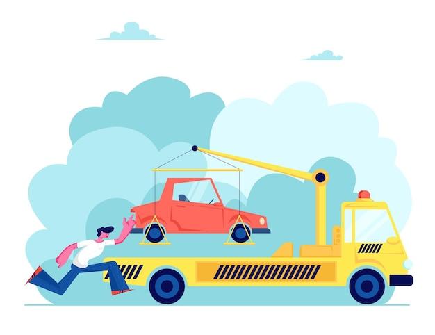 Samochód holowniczy take away car