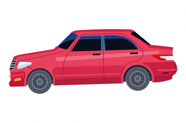 Samochód ikona transportu pojazdu kreskówka