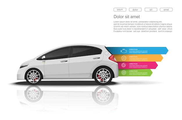 Samochód infografiki design.vector