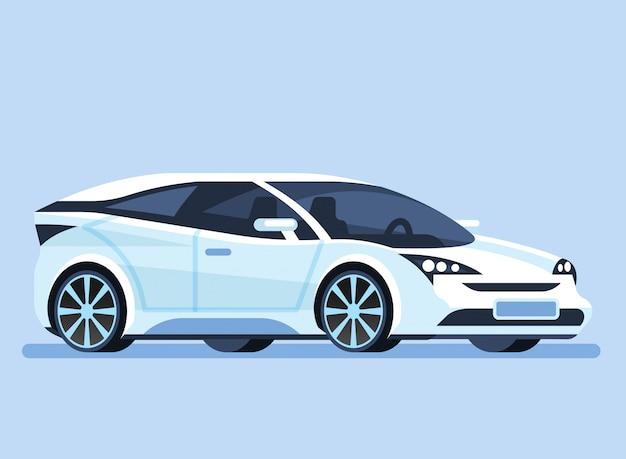 Samochód. inteligentny futurystyczny pojazd.
