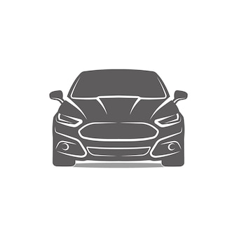 Samochód logo ikona emblemat szablon projektu ilustracji wektorowych