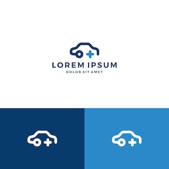 Samochód plus logo