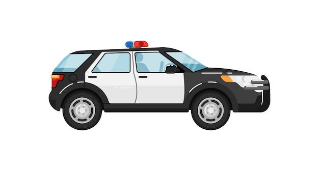 Samochód policyjny suv na białym tle ilustracja