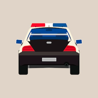 Samochód policyjny z powrotem widoku ilustracja