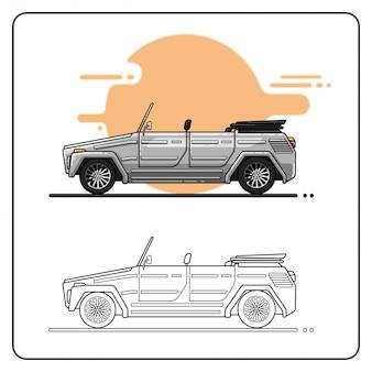Samochód przygodowy można łatwo edytować