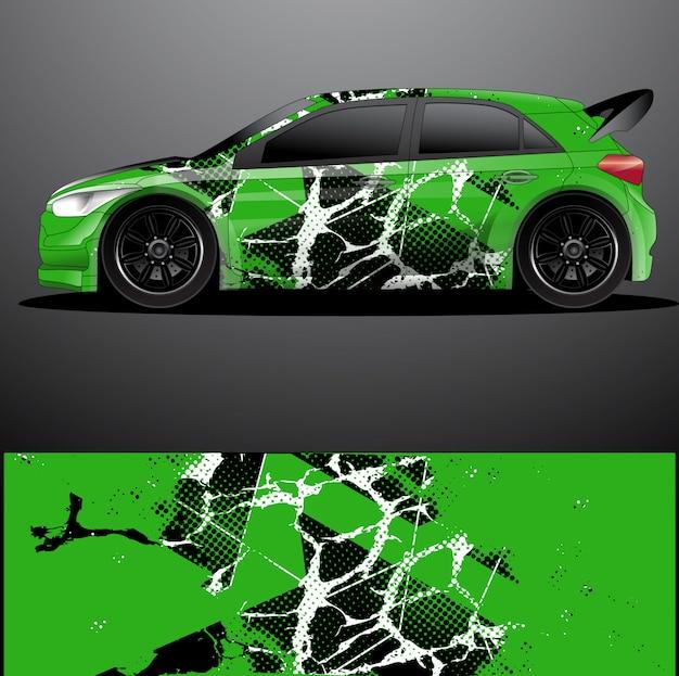 Samochód rajdowy naklejka graficzny owinąć wektor, abstrakcyjne tło
