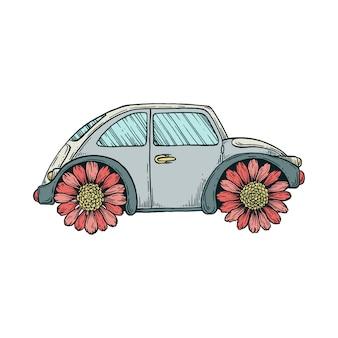 Samochód rumiankowy.