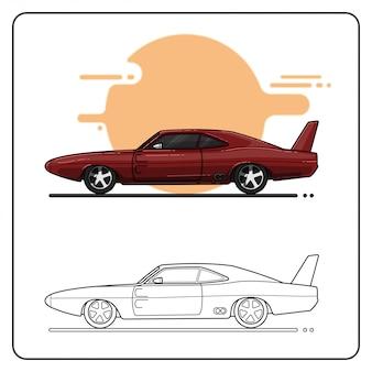 Samochód sportowy maroon łatwo można edytować