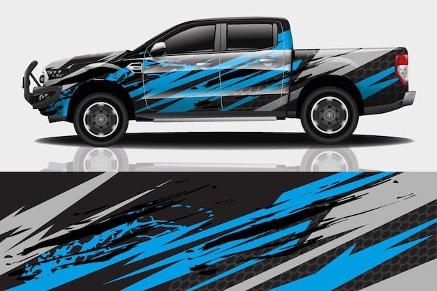 Samochód sportowy naklejka owijania wektor projekt