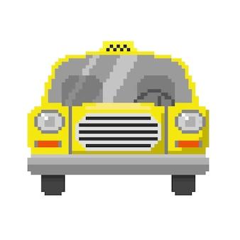 Samochód sztuki pikseli w wektorze