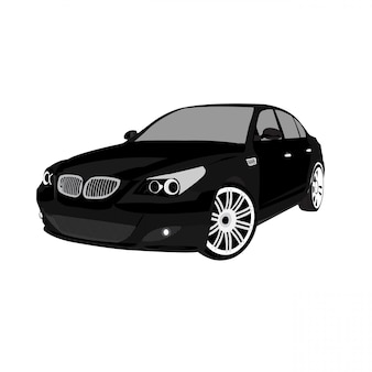 Samochód wektor ilustrują na białym tle pełnego edytowalnego formatu łatwe dostosowanie