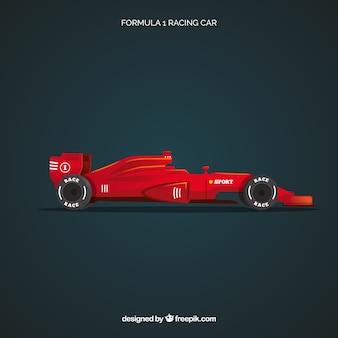 Samochód wyścigowy formuły 1 o realistycznym designie