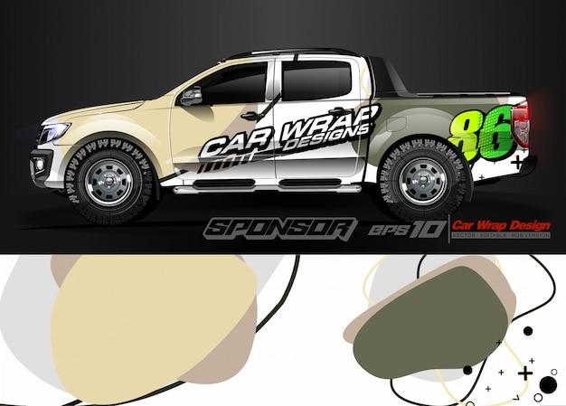 Samochodowy zawijanie graficzny bieżny abstrakcjonistyczny pasek i tło dla samochodowego opakunku i winylowej naklejki - wektor
