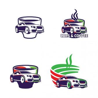 Samochody i kawowa ilustracja