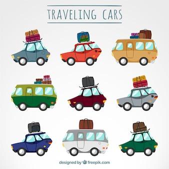Samochody podróżujące spakować