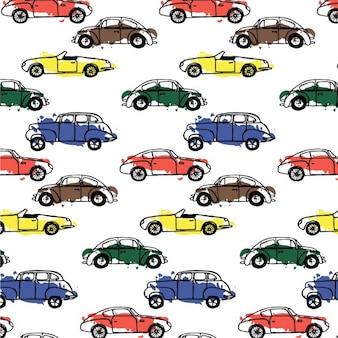 Samochody wzór