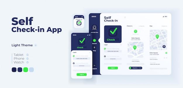 Samokontrola w adaptacyjnym szablonie ekranu aplikacji