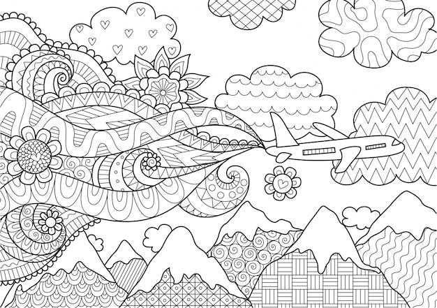 Samolot latający nad górami