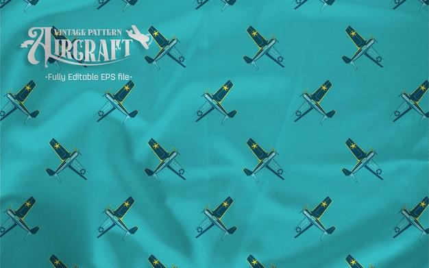 Samolot myśliwski vintage f4 wildcat wzór tła