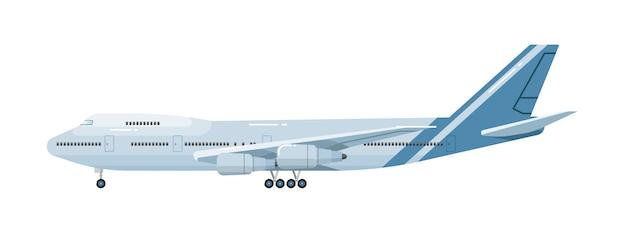Samolot na białym tle