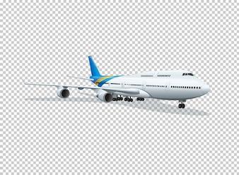 Samolot na przezroczystym tle