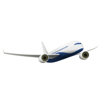 Samolot pasażerski na białym tle
