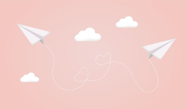 Samolot samolot z białego papieru z cieniem na niebie samolot na niebieskim tle papierowy samolot