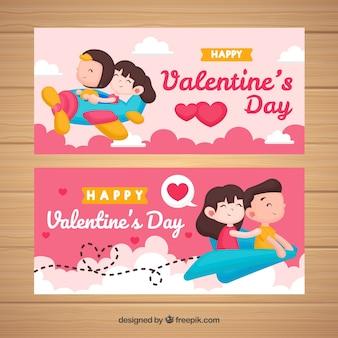 Samolot valentine banner