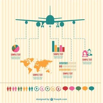 Samolot wektor infography projekt