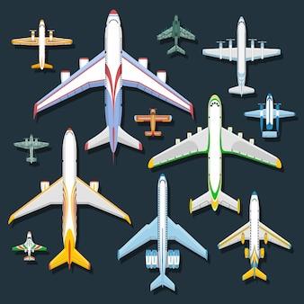 Samolotowa odgórnego widoku ilustracja.