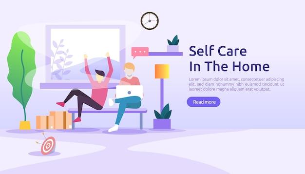 Samoopieka i koncepcja pobytu w domu.