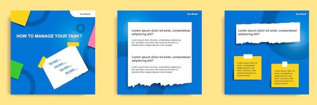Samouczek mediów społecznościowych, wskazówki, sztuczka, czy znasz szablon banera z karteczką samoprzylepną?