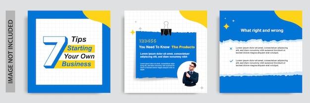 Samouczek mediów społecznościowych, wskazówki, sztuczka, czy znasz szablon banera z karteczkami samoprzylepnymi?