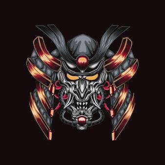 Samurai illustration robotic artwork
