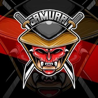 Samuraj z logo esport